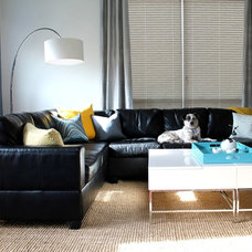 Modern Living Room by S Squared Design