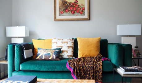 Houzz Tour: A 1980s Home is Given a Personality Boost with Colour