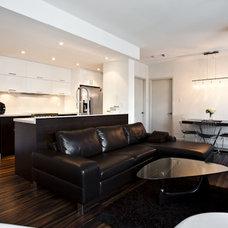 Modern Living Room by BiglarKinyan Design Planning Inc.