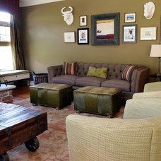 Eclectic Living Room by Shoshana Gosselin