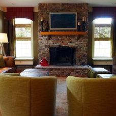 Traditional Living Room by Shoshana Gosselin