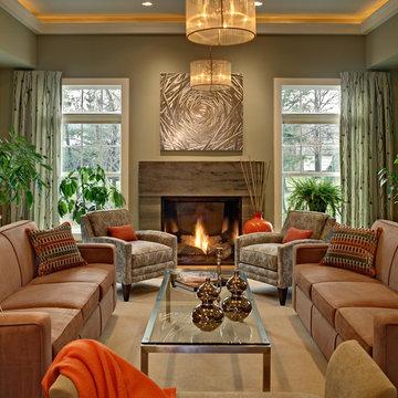 Warm Contemporary Living Room