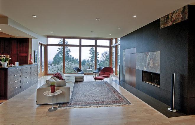Modern Living Room by J.A. Hand Construction, Inc.