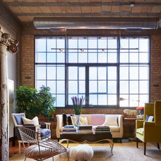 Industrial Living Room by Martha O'Hara Interiors