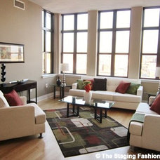 Contemporary Living Room by The Staging Fashionista