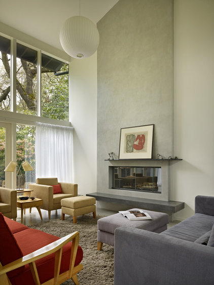 Midcentury Living Room by Coop 15 Architecture