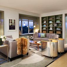 Contemporary Living Room by PAULA+MARTHA, LLC