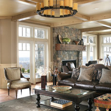 Traditional Living Room by Realm Designs Inc.