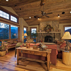 Traditional Living Room by Apex Mountain Homes