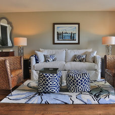 Beach Style Living Room by Classic Coastal