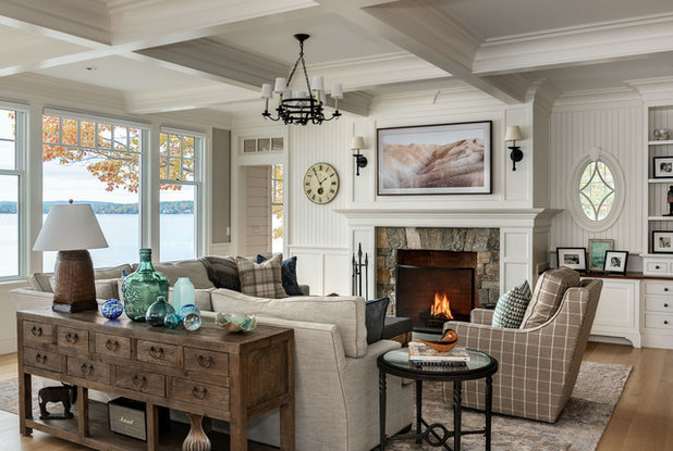 Beach Style Living Room by Timothy M. Giguere, AIA - TMS Architects