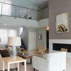 Contemporary Living Room by DawnElise Interiors