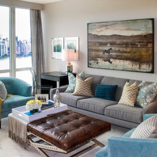 Modern Living Room by Lux Pad Interiors