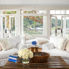 Beach Style Living Room by jodi foster design + planning