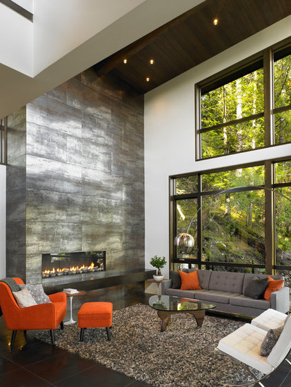 Contemporary Living Room by Sarah Gallop Design Inc.