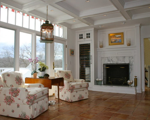 fireplace raised hearth. Inspiration for a timeless living room remodel in New York with standard  fireplace and white Raised Hearth Fireplace Houzz