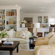 Traditional Living Room by Nancy McLaughlin Interiors