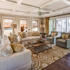 Beach Style Living Room by Evergreene Homes