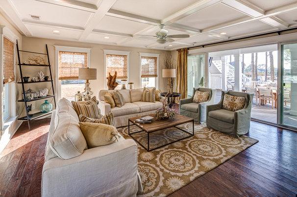 Beach Style Living Room by Evergreene Homes