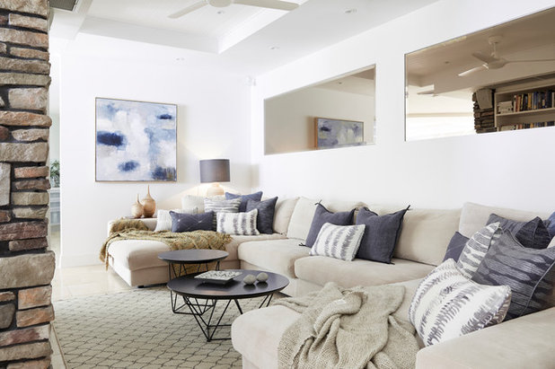 Coastal Living Room by Style Agenda