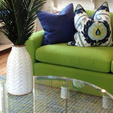 Beach Style Living Room by Lisa Gabrielson Design