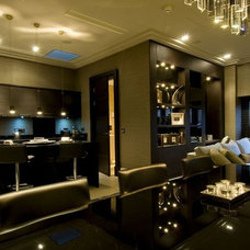 Contemporary Living Room by Cheadle Glass