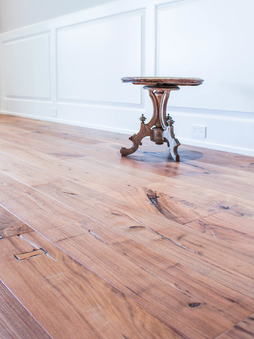 Weathered Walnut Wood Flooring Residence In Naples Florida