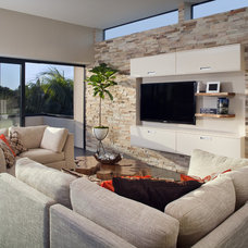 Contemporary Living Room by Weiland