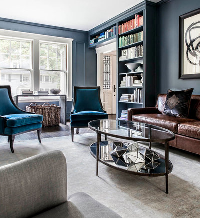 room of the day: deep color soothes in a favorite reading room