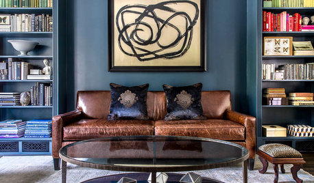 Deep Color Soothes in a Favorite Reading Room