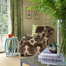 Traditional Living Room by Hudson Interior Design