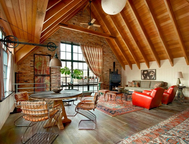 Contemporary Living Room by Wells & Fox