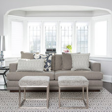 Transitional Living Room by Jodie Rosen Design