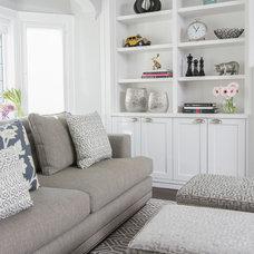 Transitional Living Room by Jodie Rosen Design