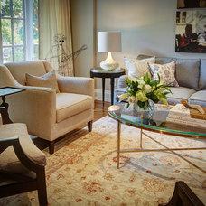 Traditional Living Room by barlow reid design