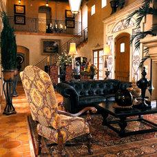 Mediterranean Living Room by Wesley-Wayne Interiors, LLC