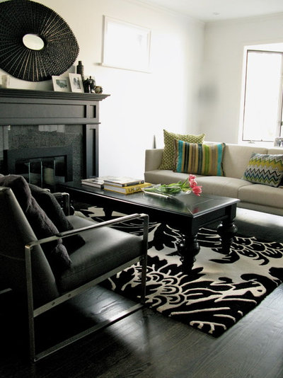 Eclectic Living Room by Gaile Guevara