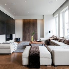 Contemporary Living Room by Travis Mark Photography