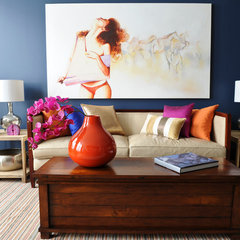 eclectic living room by Twenty One Two Designs Inc.