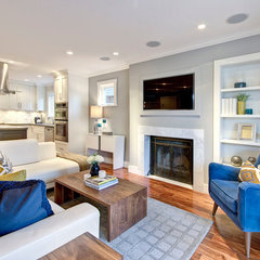 traditional living room by Flow Home Staging & Design
