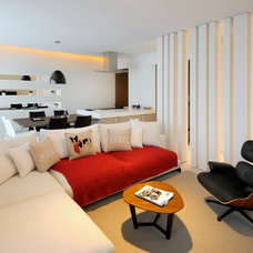 Contemporary Living Room by Draw Link Group