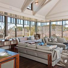 Contemporary Living Room by Martha's Vineyard Interior Design