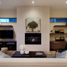 Modern Living Room by Capstone Custom Homes