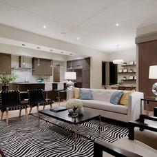 Modern Living Room by Capstone Custom Homes