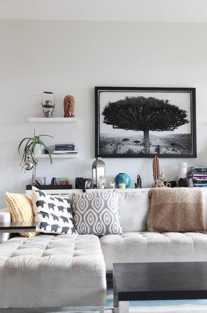 Beach Style Living Room by Megan Buchanan
