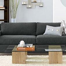 Contemporary Living Room west elm