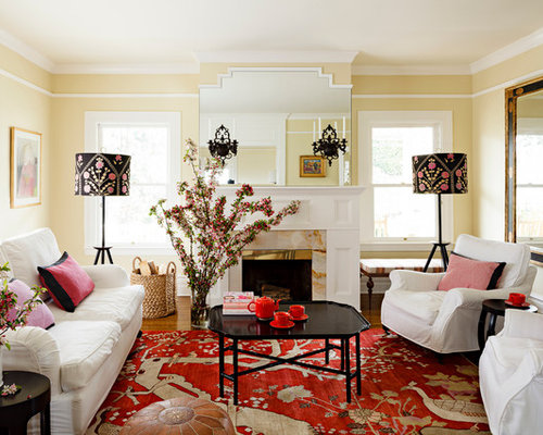 Living Room Yellow And Red red and yellow living room | houzz