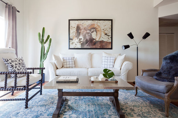 Transitional Living Room by SHAPESIDE