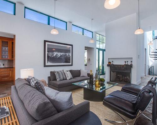 contemporary gray living room design ideas remodels photos houzz