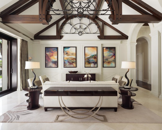 Vaulted Ceiling Design Ideas Houzz - Vaulted ceiling living room